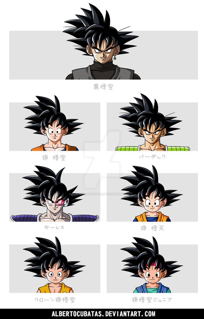 Goku characters hairstyle by albertocubatas