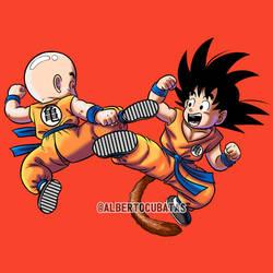 Krilin Vs Goku