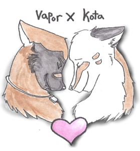 Kota and Vapor Journal Sticker. by Nigrecent