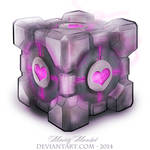 Guess who drew a Companion Cube