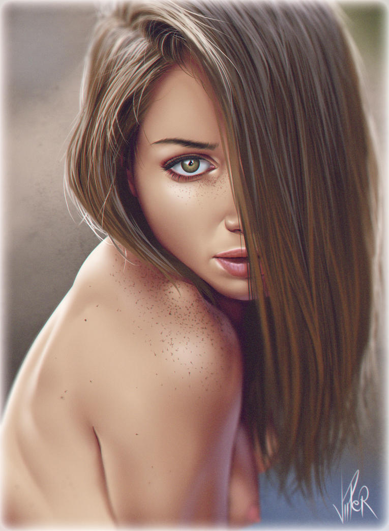 Green Eyes by ViiPerArt