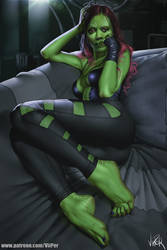 Gamora - Guardians of the Galaxy by ViiPerArt