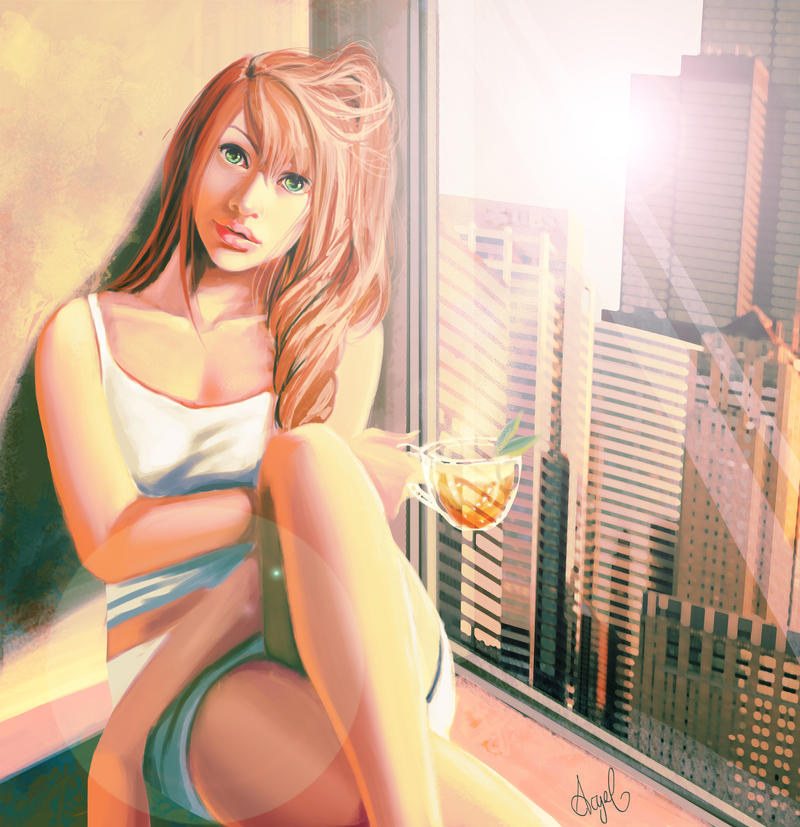 Morning Tea by AcyeL