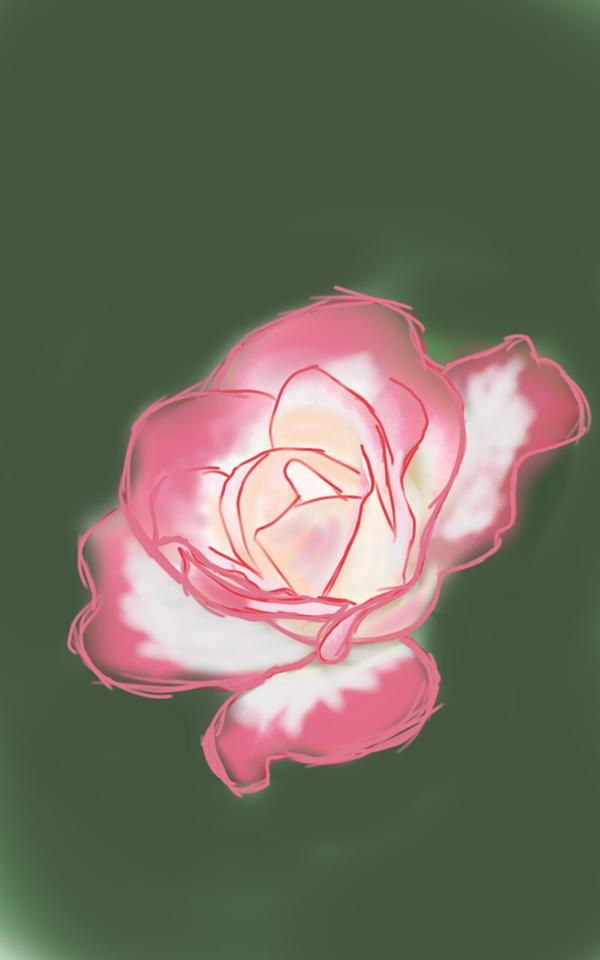Rose flower speedpaint by that-one-artist7001