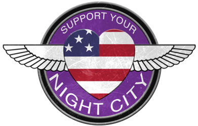Cyberpunk 2077 Support Your Night City Pin