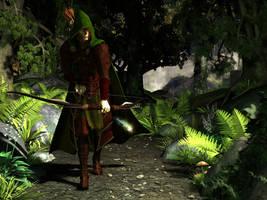 Wood Elf Warden by DarioFish