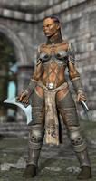 Half-Orc Warrioress by DarioFish