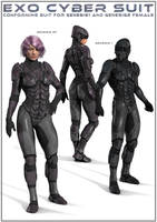 EXO Cyber Suit G1+G2F by DarioFish