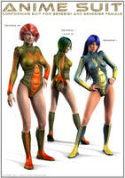 SciFi Anime Suit G1+G2F by DarioFish