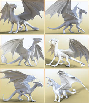 HFS Legendary Shapes HD for DAZ Dragon 3 Collage