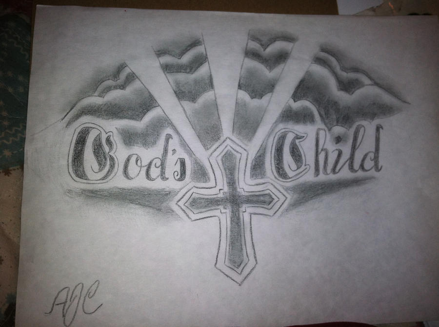 God 39 s child tattoo design by jammasternae on deviantart for God s son tattoo