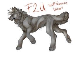 F2U Wolf/Canine Lineart [.SAI/.PSD] by Wolf024