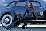 ...my old black car!