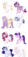 *REDUCED*Mane Six Ship Adoptables 1/8 OPEN