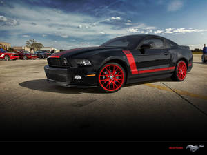 Mustang red and black