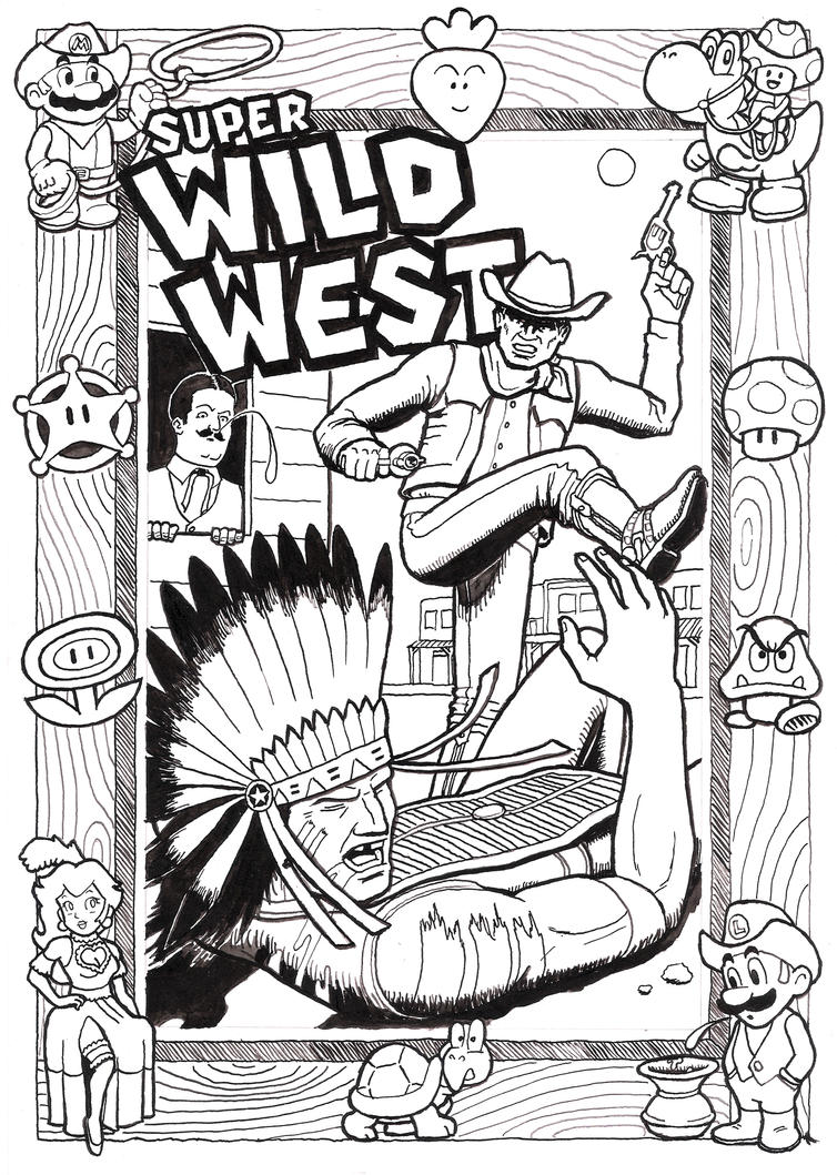 Mario Wild West by ralphenstein