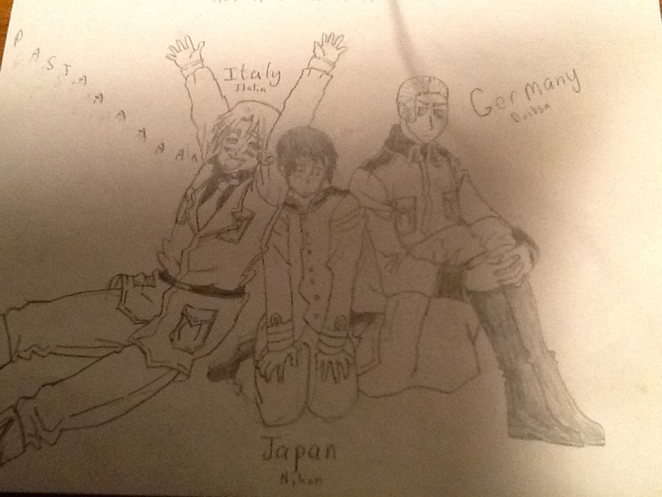 oh look it's the axis powers by Snowflake-the-Cat
