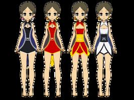 Kisekae   Short Dresses [Exports] by teto414