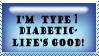 Type One Diabetes - Stamp by sweetlilrocknroll