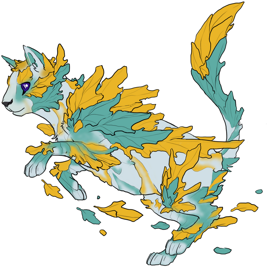 Golden Leaf Kitty by SnakeMouth