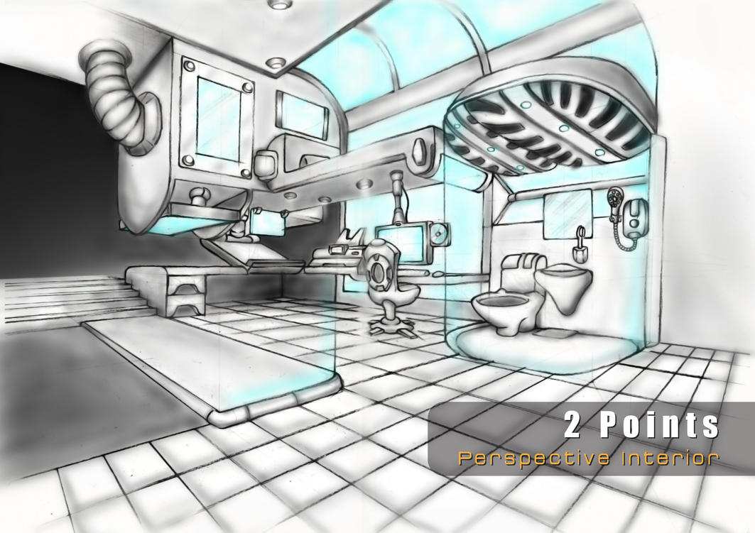 2 Point perspective Interior by VictorGah. 2 Point perspective Interior by VictorGah on DeviantArt