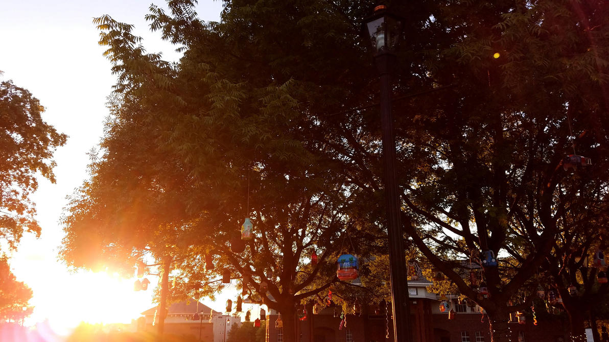 Downtown Duluth - Trees and Birdfeeders by Supuhstar