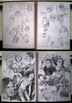 me sketchbook, it is full