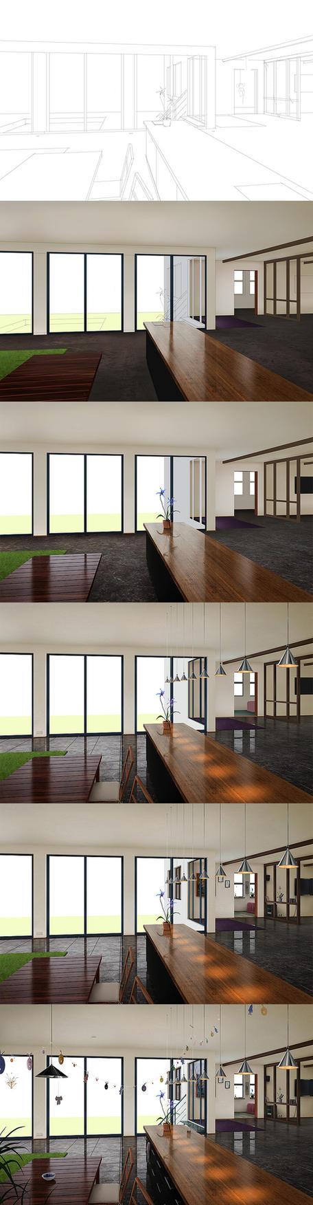 Livingroom - Steps by algenpfleger