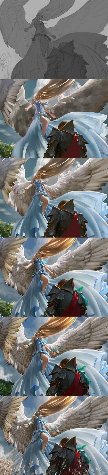 MtG: Restoration Angel - Steps