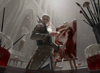 MtG: Blood Artist by algenpfleger