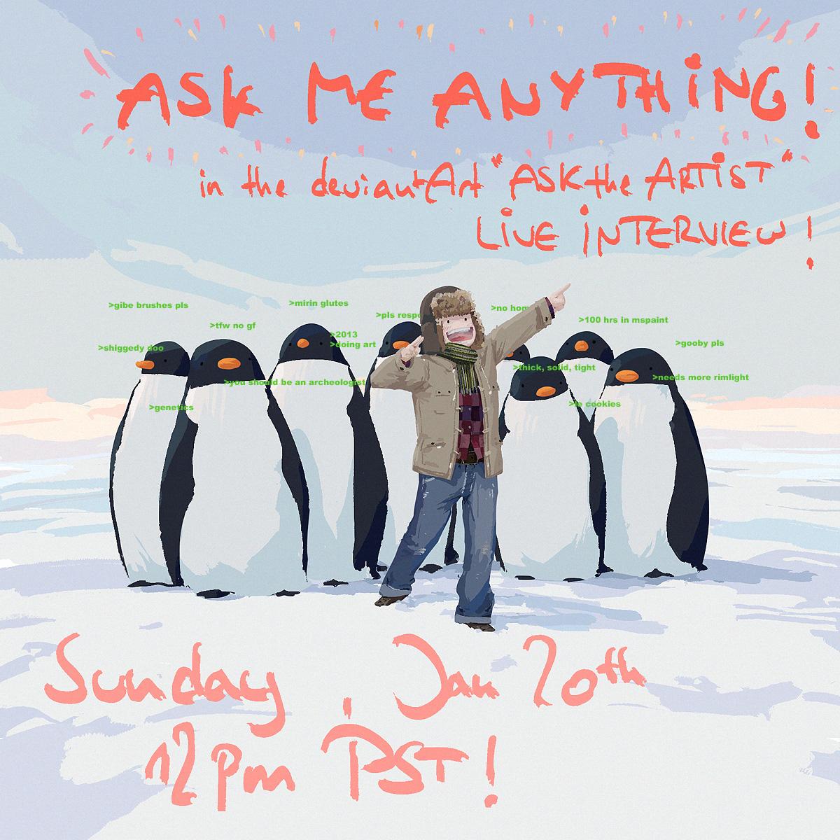 Ask the Artist Interview! by algenpfleger