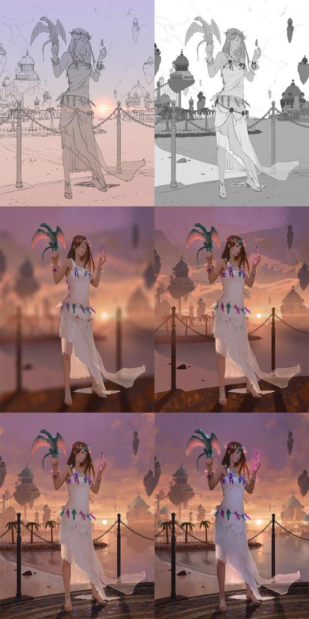 Princess of Atlantis - steps by algenpfleger