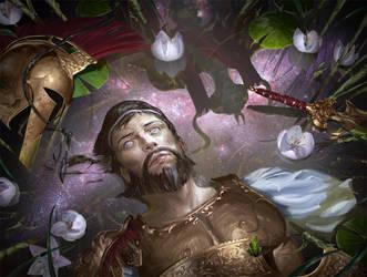 MtG: Hero's Downfall by algenpfleger