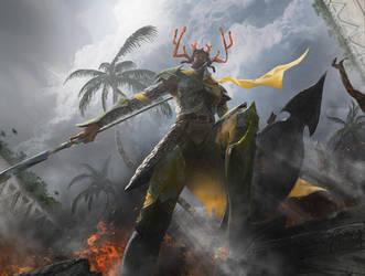 MtG: Dragon Hunter by algenpfleger