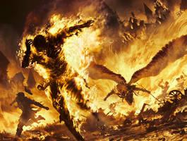 MtG: Fiery Temper by algenpfleger