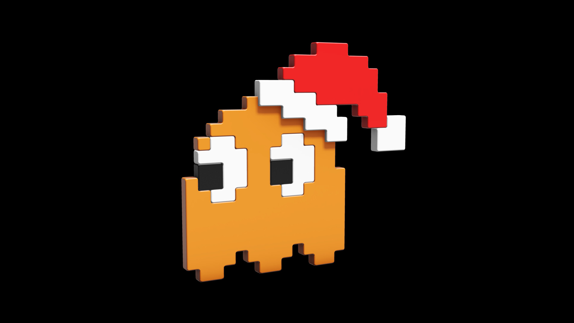 Pac Man Ghost Wallpaper - Christmas Edition by cubik-deviantart