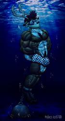 Buck Drowned Alone -YCH- by Prince-Asad-GID