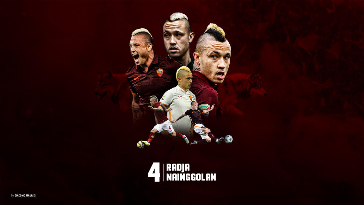 Radja Nainggolan Wallpaper Art As Roma Player by Gia oMaurizi