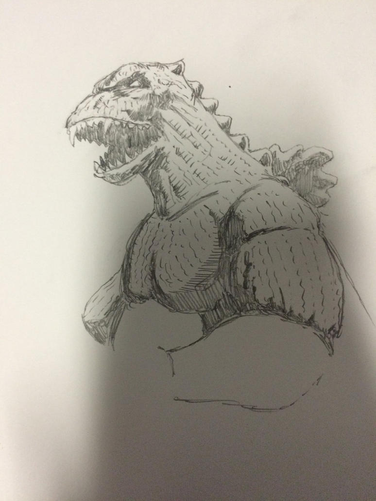 Preliminary Godzilla sketch by TheMoore