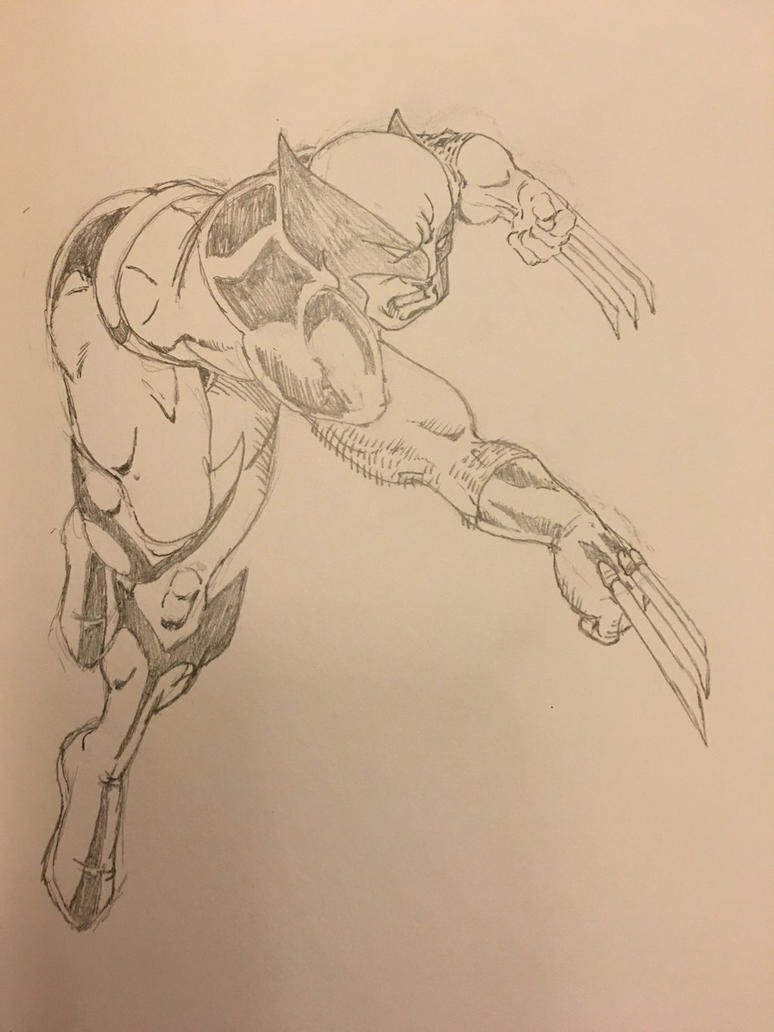 Lunging Wolverine by TheMoore