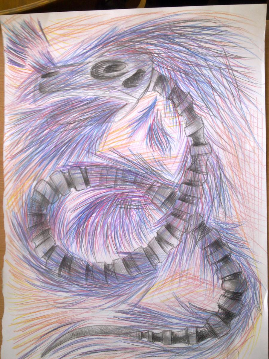 Blazing Dragon-Horror's pet by UsayFudo
