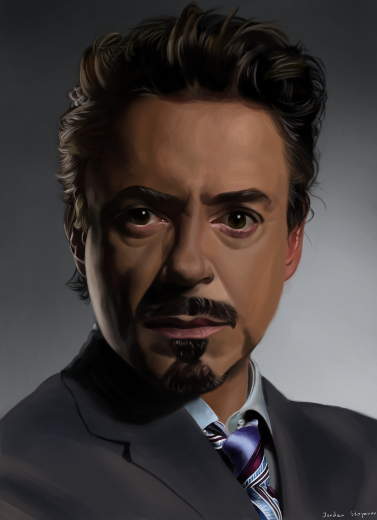 Tony Stark-Robert Downey Jr. by UsayFudo