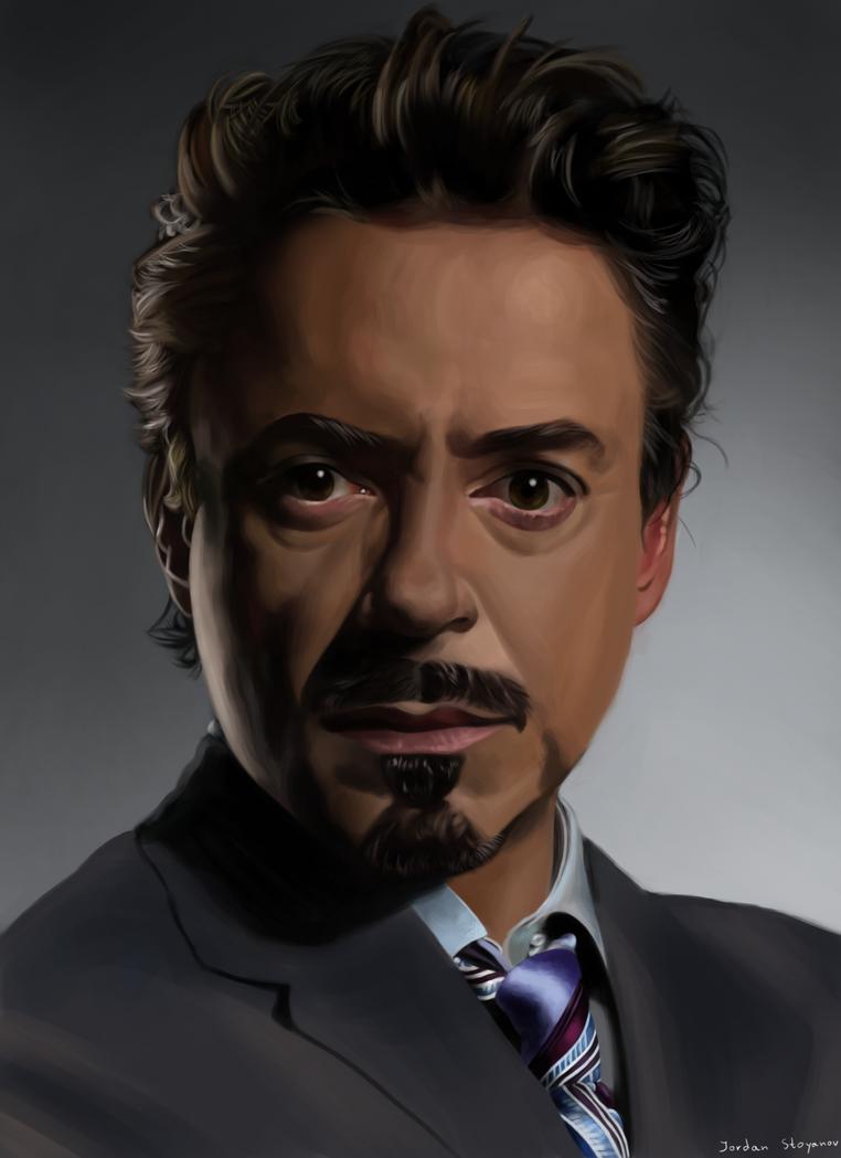 Tony Stark-Robert Downey Jr. by UsayFudo