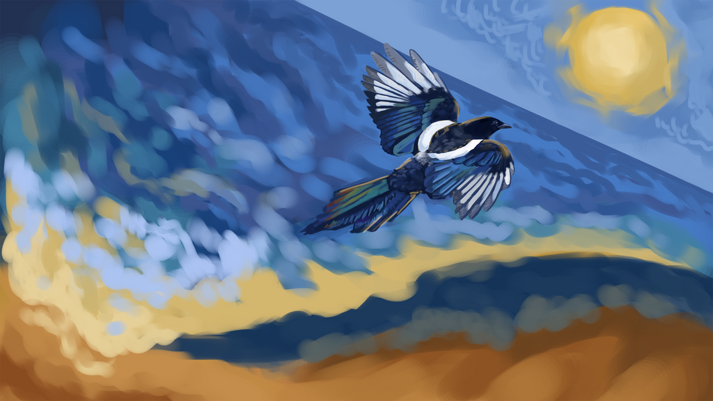 I give you the sea and the freedom of a magpie by UsayFudo
