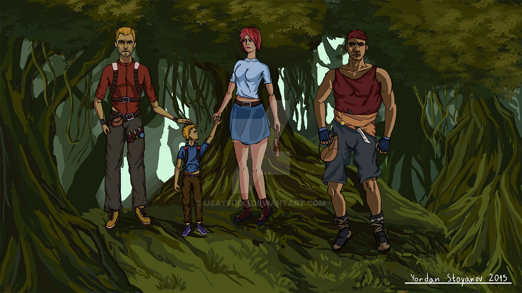 Lost in the jungle- Characters by UsayFudo
