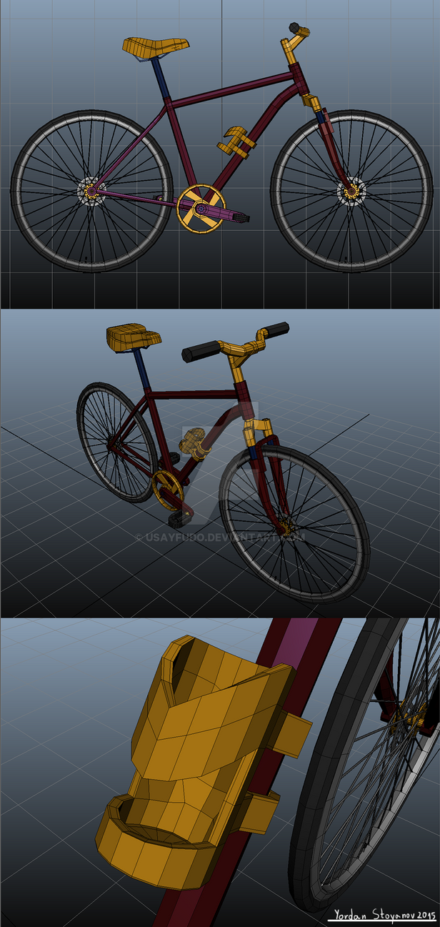 3d model of a bicycle by UsayFudo