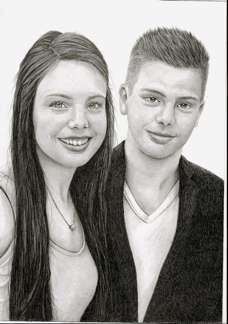 Brother en sister drawing by mo62