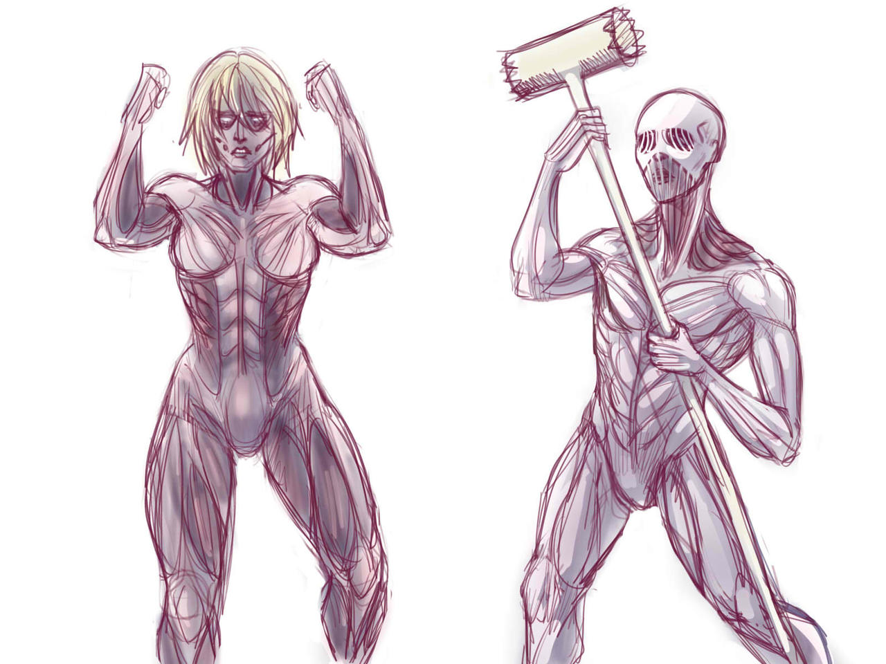 Female Warhammer Titan By Noupie On Deviantart How to draw warhammer titan step by step tutorial from attack on titan (shingeki no kyojin/ 進撃の巨人)in this video i will be teaching you how to draw war. female warhammer titan by noupie on