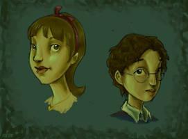 Violet and Klaus Baudelaire