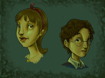 Violet and Klaus Baudelaire by katie8787